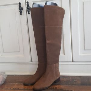 New J. Crew Over the knee boots in suede K2741 $325